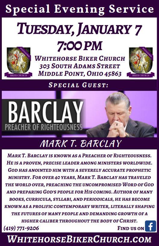 Mark T. Barclay Flier