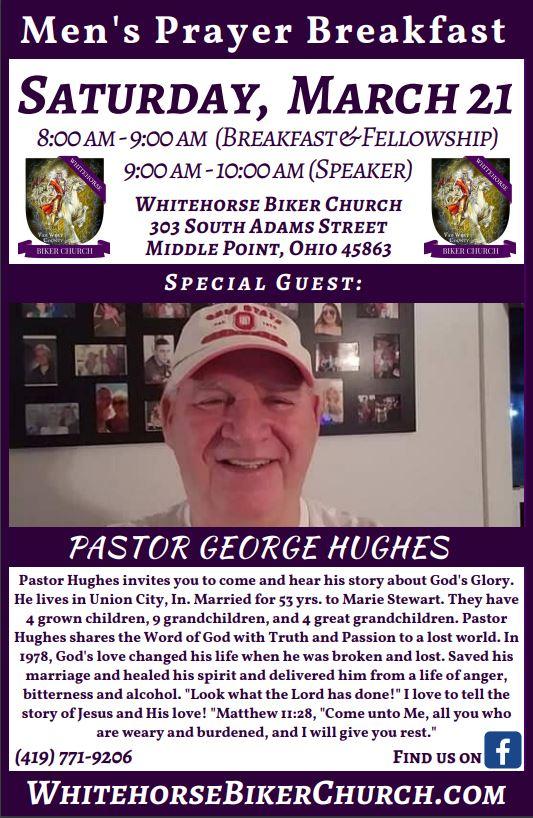 George Hughes Prayer Breakfast Flier 2020
